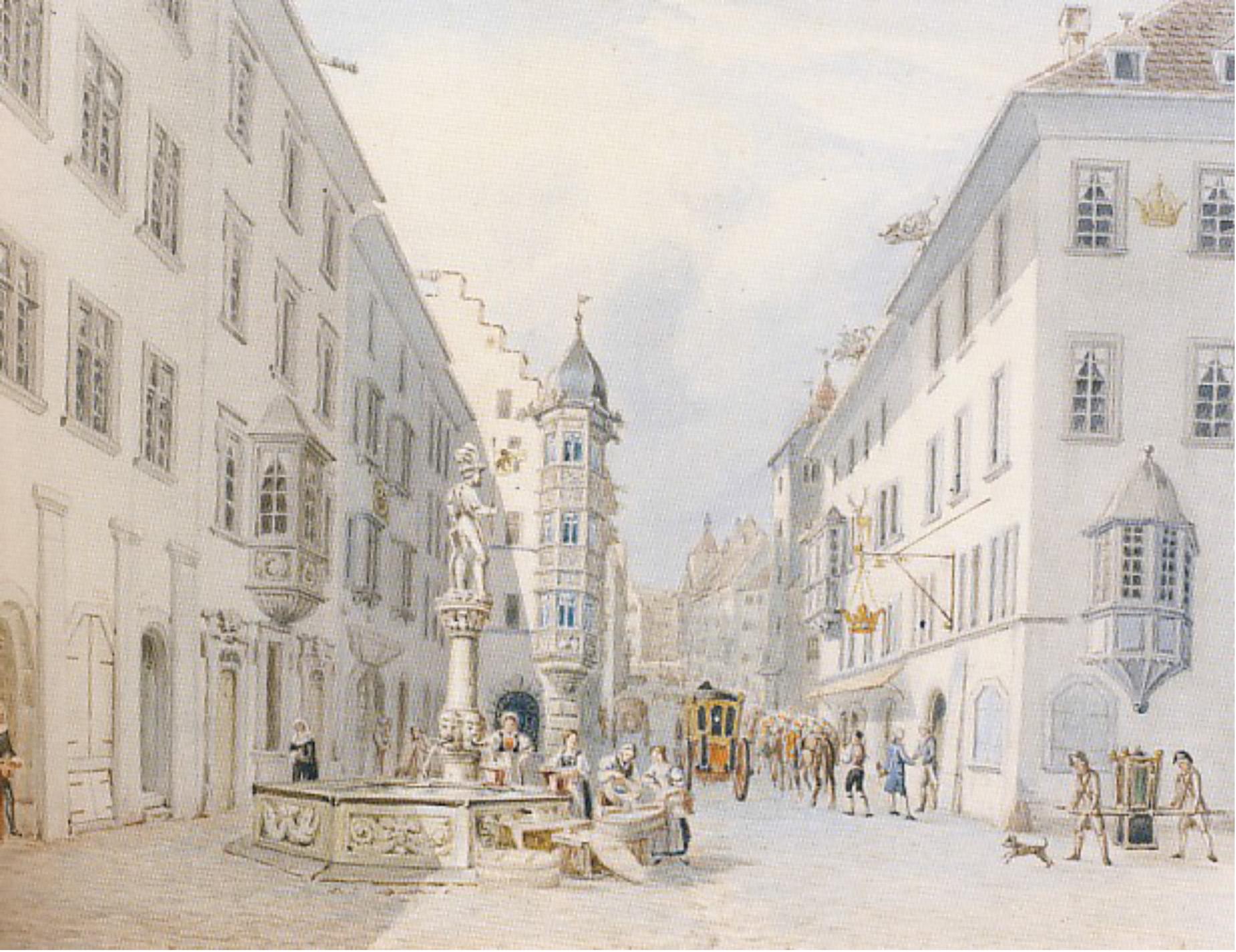 Der Fischmarkt vor dem St. Johann